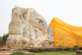 Biggest stone Reclining Buddha at Ayutthaya,Thailand poster