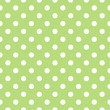 Vector seamless pattern with green background and white dots