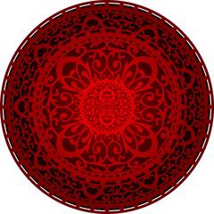 Vector illustration of oriental rug