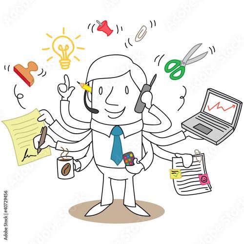 Geschäftsmann, Multitaskingfähig
