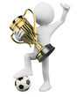3D Football player - World champion