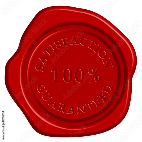 Vector illustration of guarantee stamp