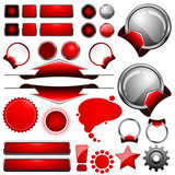 web button set red