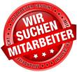 """Button Banner """"Wir suchen Mitarbeiter"""" rot"""
