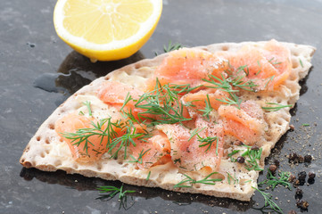 Salmon On Crispbread
