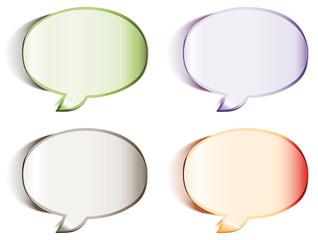 Blank speech bubbles stickers - eps8