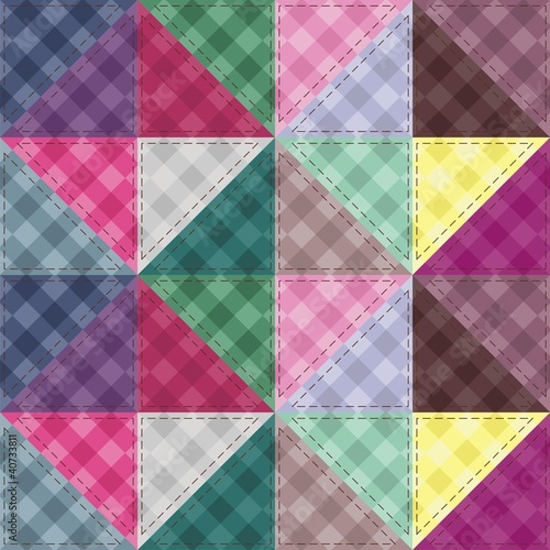 patchwork background with decor elements