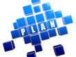 blue plan in blocks