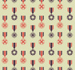 war medals pattern