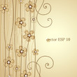The light brown background floral decoration 2