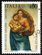 Postage stamp Italy 1983 Sistine Madonna, by Raphael