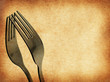 vintage abstract fork background
