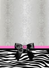 Elegant zebra damask stationery
