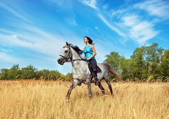Girl on a horse