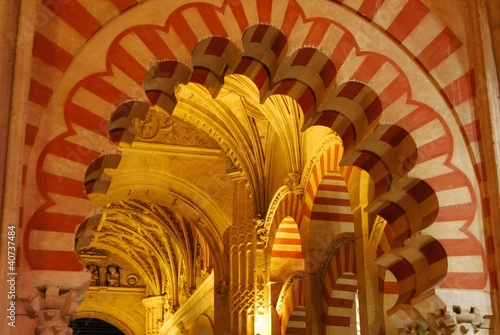 Arch, Prayer hall, Mezquita, Cordoba, Spain © Arena Photo UK