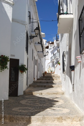 Village street, Frigiliana, Andalusia, Spain © Arena Photo UK
