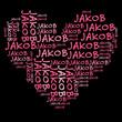 Постер, плакат: Ich liebe Jakob | I love Jakob