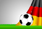 Vector illustration of a soccer ball with Germany insignia poster