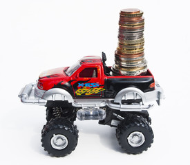 Car with money