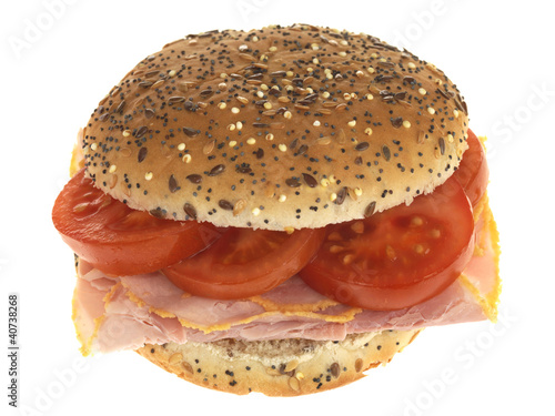 Ham and Tomato Roll