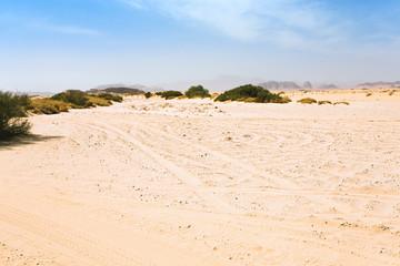 sand haze in Wadi Rum dessert