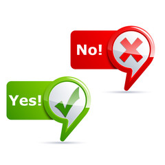Yes and No check icons
