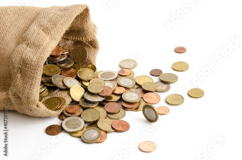 Ausgeschüttetes Euro-Hartgeld