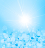 blue sun rays