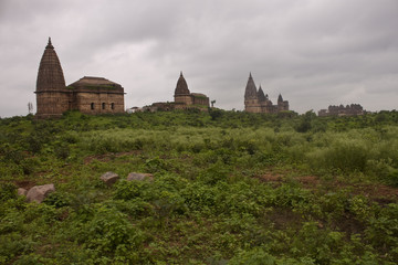 Hinduist temples in Orchha, India