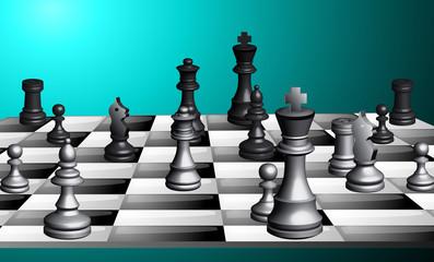 Schachspiel 3D