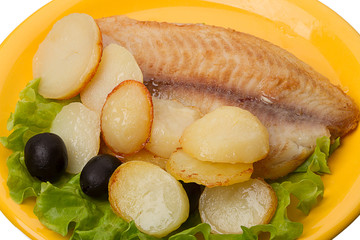 Fish with roasted potatoes