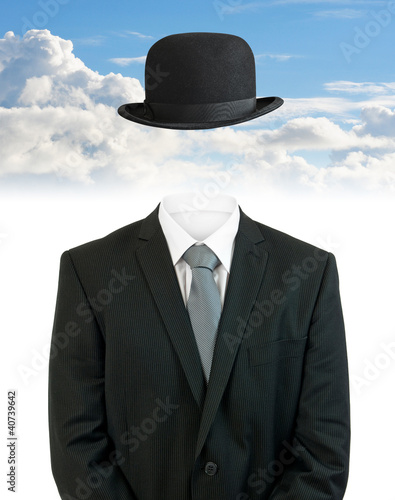 invisible business man clouds