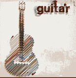Fototapety Abstract guitar. vector illustration
