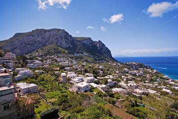 beautiful panorama on capri island, italy