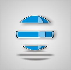 Logo en tono azul