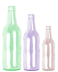 Flaschen-Reihe bunt