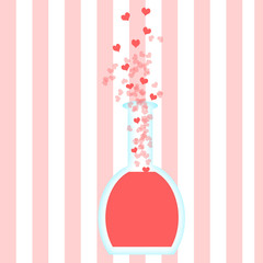 Pink background with love potion