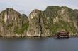nave nella baia di halong in vietnam