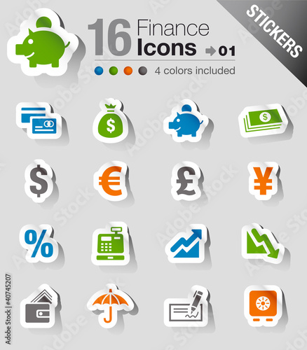 Stickers - Finance icons
