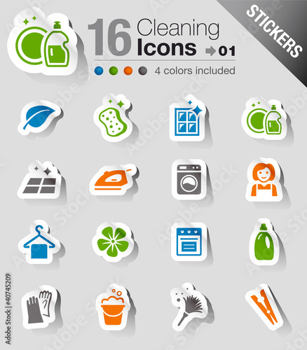 Stickers - Cleaning Icons