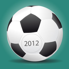 Vector football ball for Euro 2012