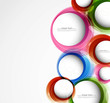 Abstract colorful circle background vector