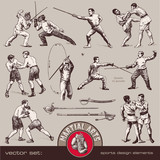 vector set: martial arts
