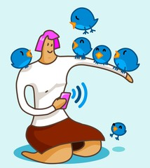 Girl and Social Media
