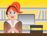 Female Receptionist Illustration