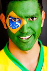 Patriotic Brazilian man