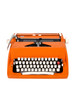 Classic orange typewriter