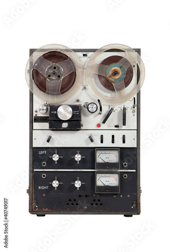 Old vintage reel-to-reel recorder