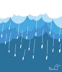 Blue clouds and rain