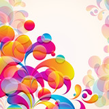 Abstract background with bright elements.
